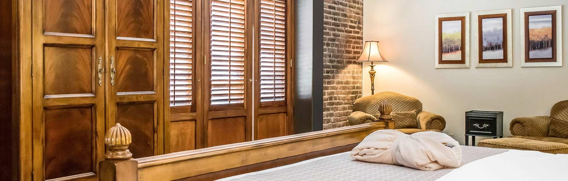 King Bed Harbor View Room at Inn at Henderson's Wharf Baltimore Maryland