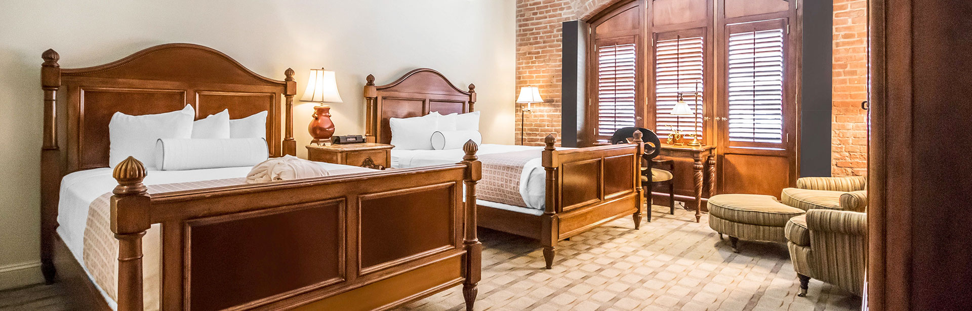 Two Queen Bed Harbor View Room at Inn at Henderson's Wharf Baltimore, Maryland