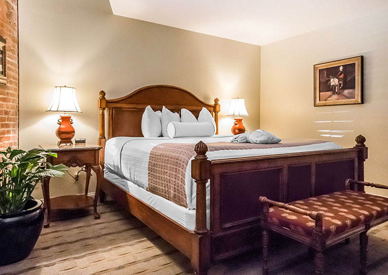 Queen Bed Marina View Room at Inn at Henderson's Wharf Baltimore, Maryland
