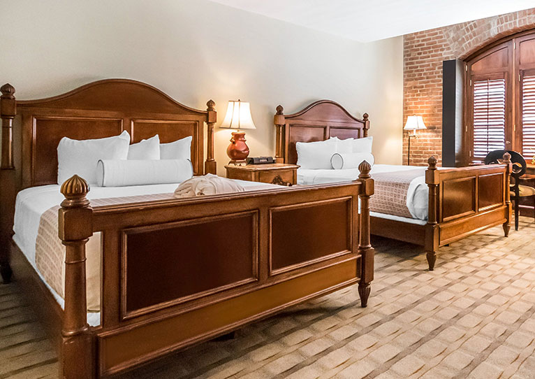Two Queen Bed Harbor View Room at Inn at Henderson's Wharf Baltimore Maryland